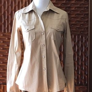 Theory Long Sleeve button up top